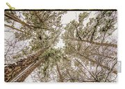 Looking Up At Snow Covered Tree Tops Carry-all Pouch