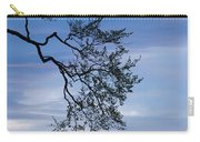 Low Angle View Of Tree At Dawn, Dark Carry-all Pouch