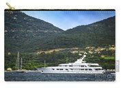 Luxury Yacht At The Coast Of French Riviera Carry-all Pouch by Elena Elisseeva