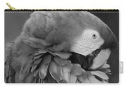 Macaws Of Color B W 17 Carry-all Pouch