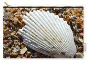 Macro Shell On Sand Carry-all Pouch