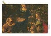 Madonna Of The Rocks Carry-all Pouch by Leonardo da Vinci