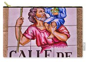 Madrid Street Sign Carry-all Pouch by David Pringle