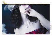 Makeup Beauty With Gothic Hair And Bloody Mouth Carry-all Pouch
