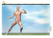 Male Musculature In Fighting Stance Carry-all Pouch