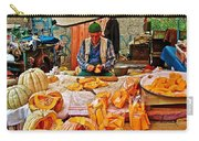 Man Peeling Squash In Antalya Street Market-turkey Carry-all Pouch