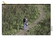 Man With A Canon Camera And Lens In Greenery Carry-all Pouch