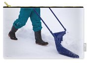 Manual Snow Removal With Snow Scoop After Blizzard Carry-all Pouch