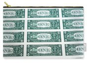 Many One Dollar Bills Side By Side Carry-all Pouch