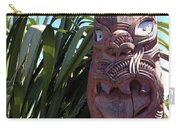 Maori Carving Carry-all Pouch by Les Cunliffe