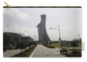 Marina Bay Sands And Singapore Flyer As Seen From A Distance Carry-all Pouch