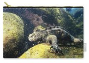 Marine Iguana Grazing On Seaweed Carry-all Pouch