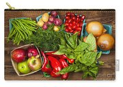 Market Fruits And Vegetables Carry-all Pouch by Elena Elisseeva