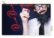 Marketing Business Man Drawing Success Diagram Carry-all Pouch