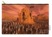 Martians Gathering Around A Monument Carry-all Pouch