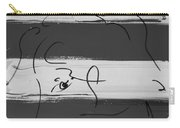 Max Women In Black And White Carry-all Pouch