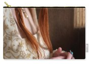 Medieval Tudor Woman With Red Hair  Carry-all Pouch