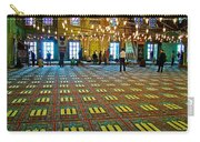 Men Inside The Blue Mosque In Istanbul-turkey Carry-all Pouch