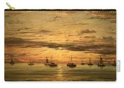 Mesdag's Sunset At Scheveningen -- A Fleet Of Shipping Vessels At Anchor Carry-all Pouch