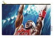 Michael Jordan Artwork Carry-all Pouch by Sheraz A