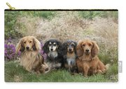 Miniature Long-haired Dachshunds Carry-all Pouch