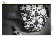 Modern Button Design Wedding Bouquet Carry-all Pouch