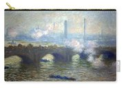Monet's Waterloo Bridge On A Gray Day Carry-all Pouch