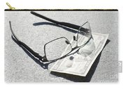 Money And Eyeglasses Carry-all Pouch