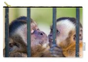 Monkey Species Cebus Apella Behind Bars Carry-all Pouch