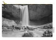 Mossy Cave Waterfall Bw Carry-all Pouch