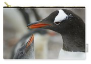 Mother And Chick Gentoo Penguins  Carry-all Pouch