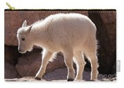 Mountain Goat Kid On Mount Evans Carry-all Pouch