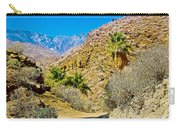 Mountain Peaks From Lower Palm Canyon Trail In Indian Canyons Near Palm Springs-california Carry-all Pouch