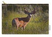 Mule Deer Buck In Velvet   #2164 Carry-all Pouch