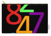 Multi-color Numbers Carry-all Pouch