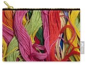 Multicolored Embroidery Thread Mixed Up  Carry-all Pouch