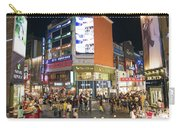 Myeongdong Shopping Street In Seoul South Korea Carry-all Pouch