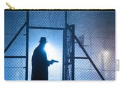 Mysterious Man With Pistol Ballpark Night Fog Carry-all Pouch