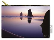 Needles Silhouetted Cannon Beach Oregon Carry-all Pouch
