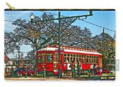 New Orleans Streetcar Painted Carry-all Pouch