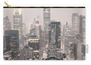 New York City - Snow Covered Skyline Carry-all Pouch by Vivienne Gucwa