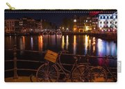 Night Lights On The Amsterdam Canals. Holland Carry-all Pouch