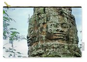 North Gate Of Angkor Thom In Angkor Wat Archeological Park-cambodia Carry-all Pouch
