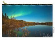 Northern Lights And Fall Colors At Calm Lake Carry-all Pouch