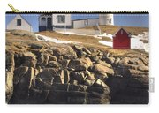 Nubble Lighthouse 3 Carry-all Pouch by Joann Vitali