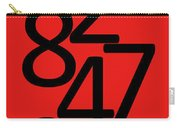 Numbers In Red And Black Carry-all Pouch