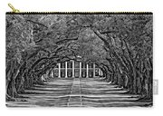 Oak Alley Bw Carry-all Pouch by Steve Harrington