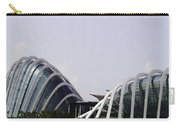 Oil Painting - Both Of The Conservatories Of The Gardens By The Bay In Singapore Carry-all Pouch