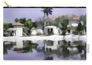 Oil Painting - Cottages And Lagoon Water Carry-all Pouch