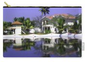 Oil Painting - Cottages And Lagoon Water In Alleppey Carry-all Pouch